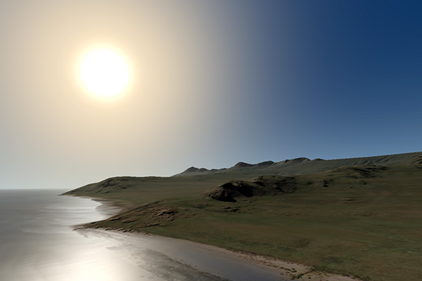 Screenshot of Antelope Island, a Chrome Experiment