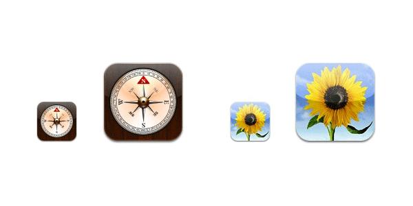 retina iOS icons
