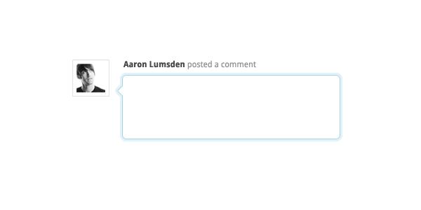 Blog comment component