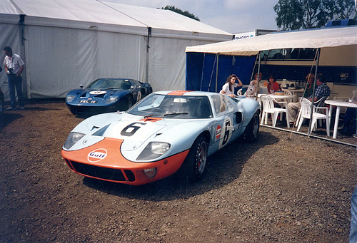 Ford GT40 in Gulf colors
