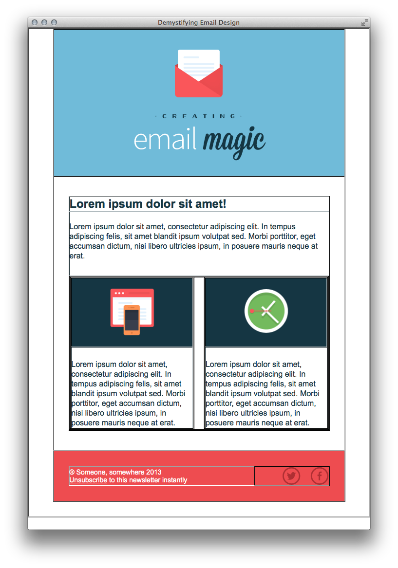 Build An HTML Email Template From Scratch - Build an html email template from scratch