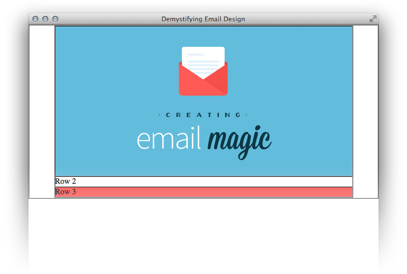 The email header along with image