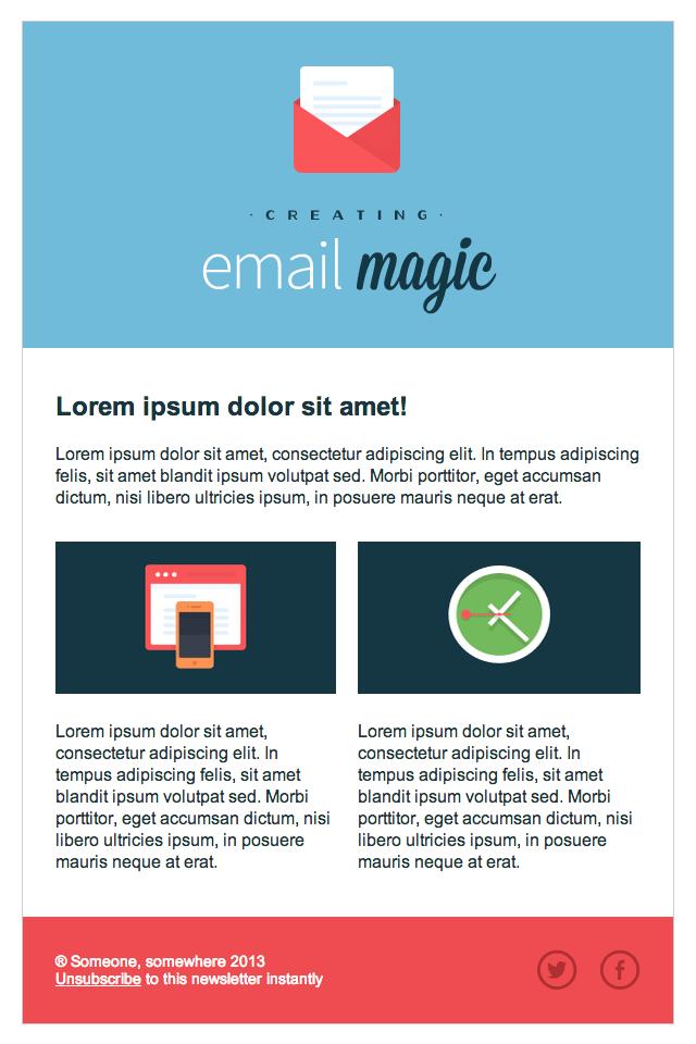 响应式 HTML 邮件制作之三个实例