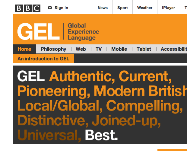 The BBC's Global Experience Language