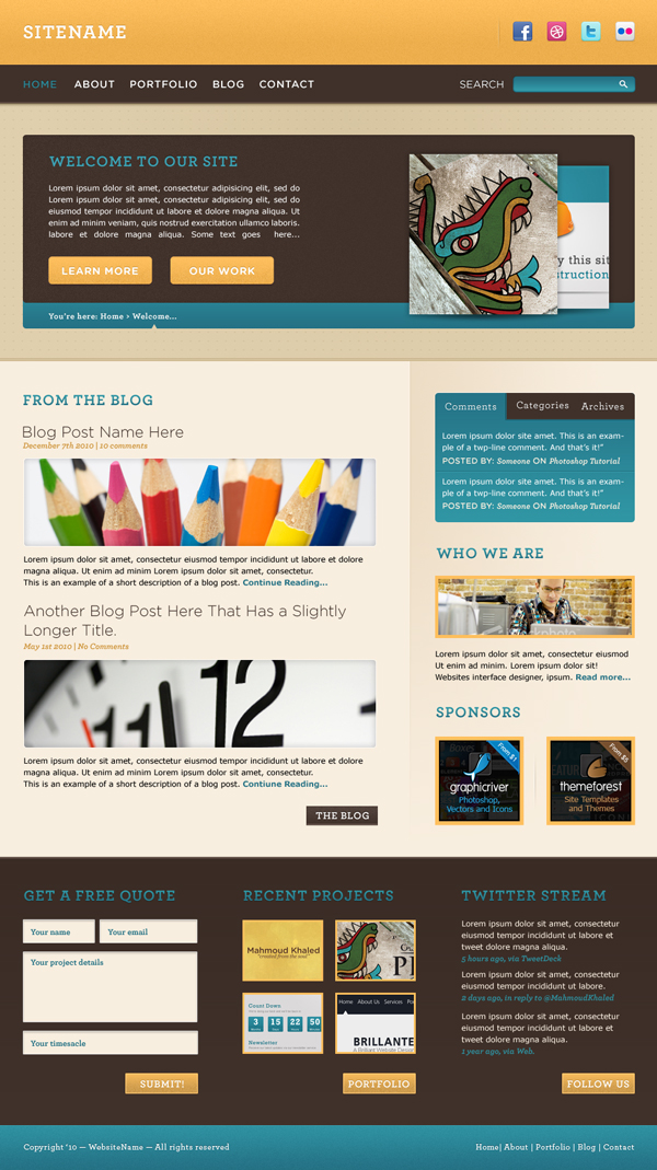 Design A Warm Cheerful Website Interface In Adobe Photoshop