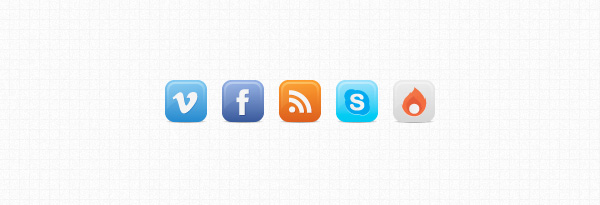 buddy icons social media web buttons vimeo