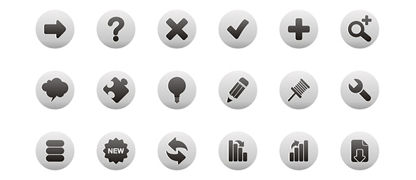 Free Web Icons Roundup Black and White