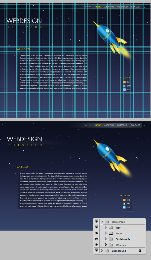 Illustrative One Page Design Tutorial