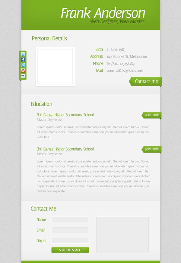 Create a Clean and Simple Résumé Website Design