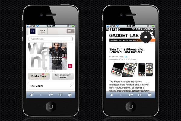 Web Design Trends : Mobile Web Design 3