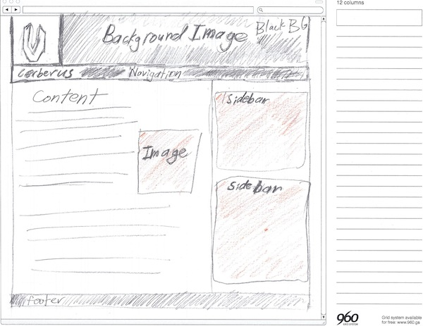 Using the 960 grid system as a design framework as i looked the design sketch i saw how to make the design work in the 960 grid malvernweather Images