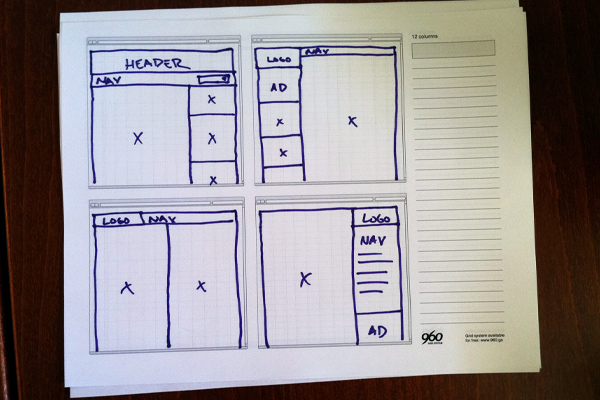 Using the 960 grid system as a design framework sketch sheets making your life easier the purpose of a css framework malvernweather Gallery