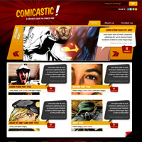 Preview for Create a Comic Book Themed Web Design, Photoshop to HTML + CSS (Part 1)