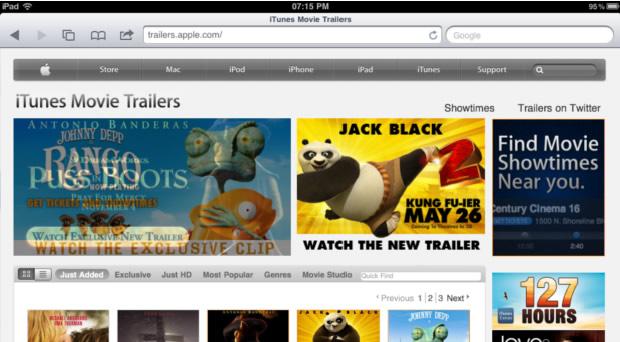 iTunes Movie Trailers