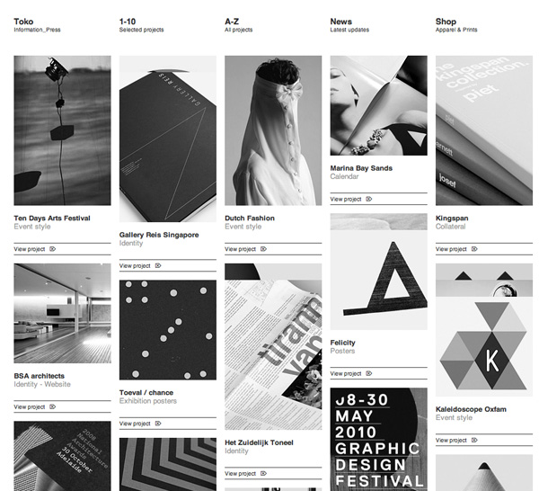 60 clean and minimal websites for inspiration for Minimalist web design