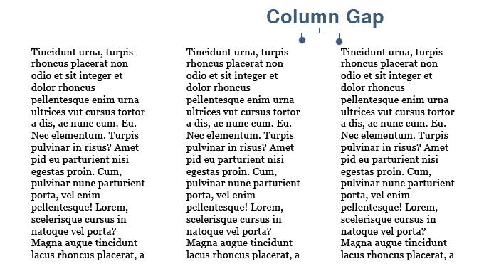CSS3 Multi Column Gap