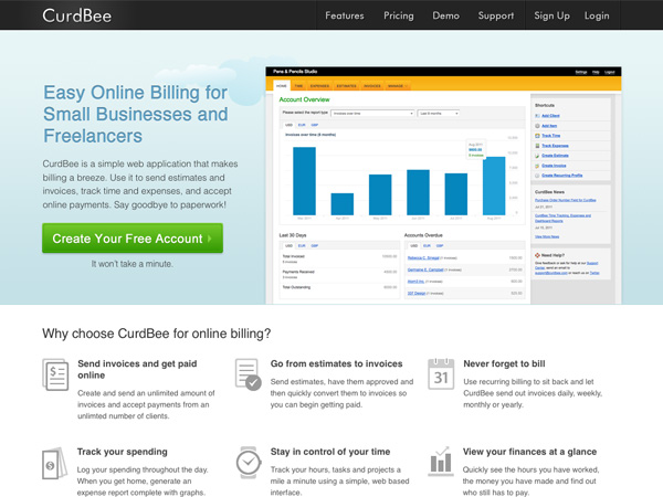 Net 30 Invoice Pdf  Well Designed Apps For Running Your Freelance Business Golden Gate Bridge Toll Invoice Pdf with Child Support Receipt Form Word Curdbee Offers Easy Online Billing That Includes Invoice And Estimates As  Well As Time And Expense Tracking It Even Lets You Accept Online Payments Hilton Hotel Receipt Pdf