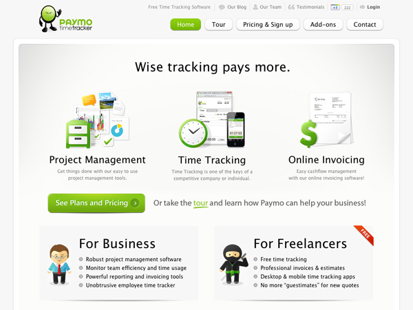 Well Designed Apps For Running Your Freelance Business - Project management software with invoicing