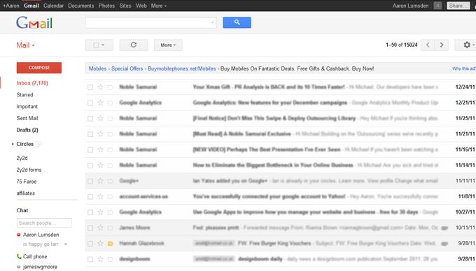 gmail layout