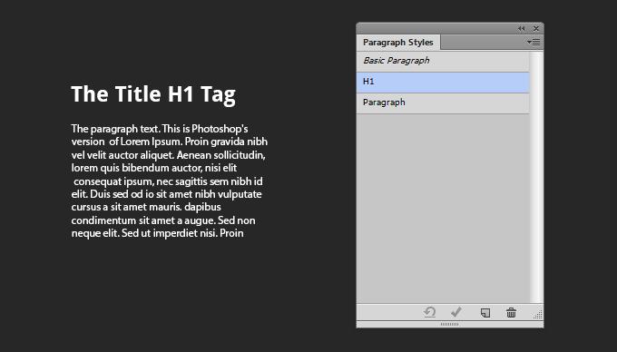 Photoshop CS6 Parapgraph Styles