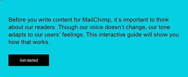 Voice and Tone is Mailchimp