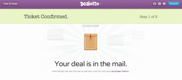 dealotto confirmation