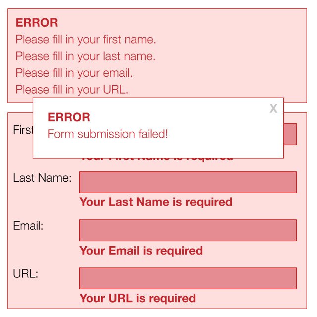 Overwhelming form errors