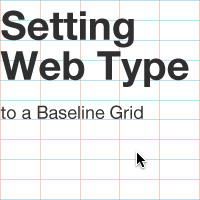 Preview for Setting Web Type to a Baseline Grid