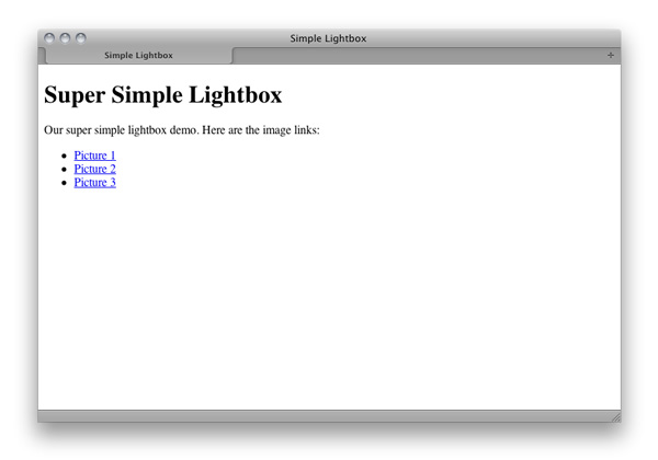 Super Simple Lightbox With CSS and jQuery