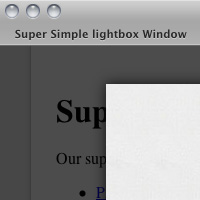Preview for Super Simple Lightbox with CSS and jQuery
