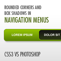Preview for CSS3 vs. Photoshop: Rounded Corners and Box Shadows