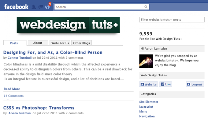 Design and Code an Integrated Facebook App: HTML + CSS