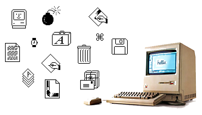 original icons from the apple macintosh