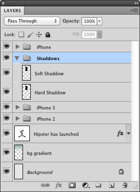 Shaddow layers in panel