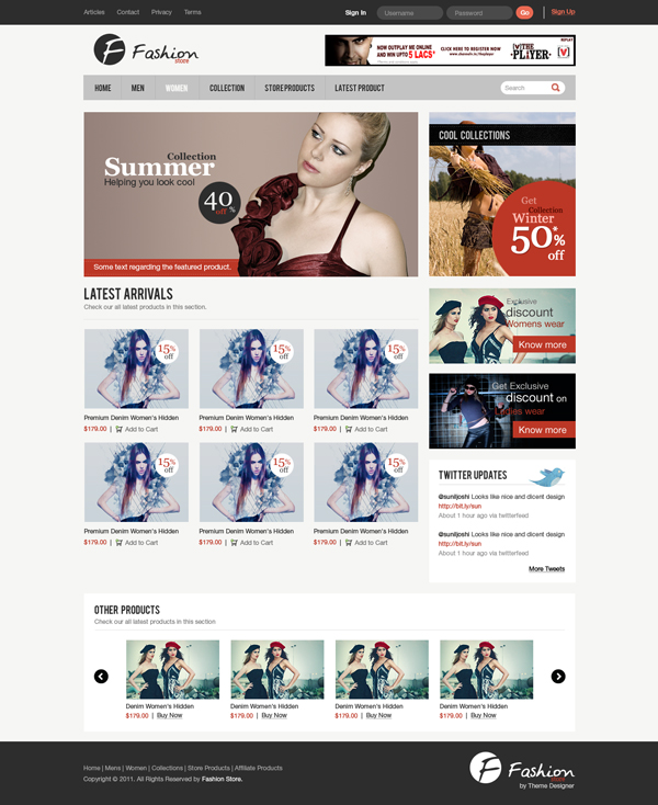 Design a clean e commerce website interface in photoshop for Draw website layout online