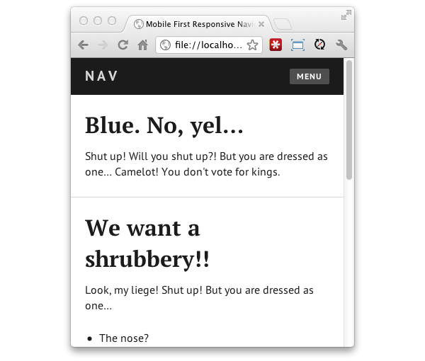 A simple responsive mobile first navigation 4 basic styles malvernweather Image collections