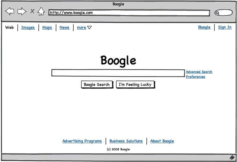 Sample Balsamiq wireframe from the Balsamiq website
