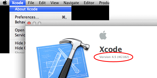 Xcode Version Number Screenshot