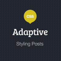 Preview for Adaptive Blog Theme: Styling Posts