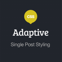 Preview for Adaptive Blog Theme: Single Post Styling