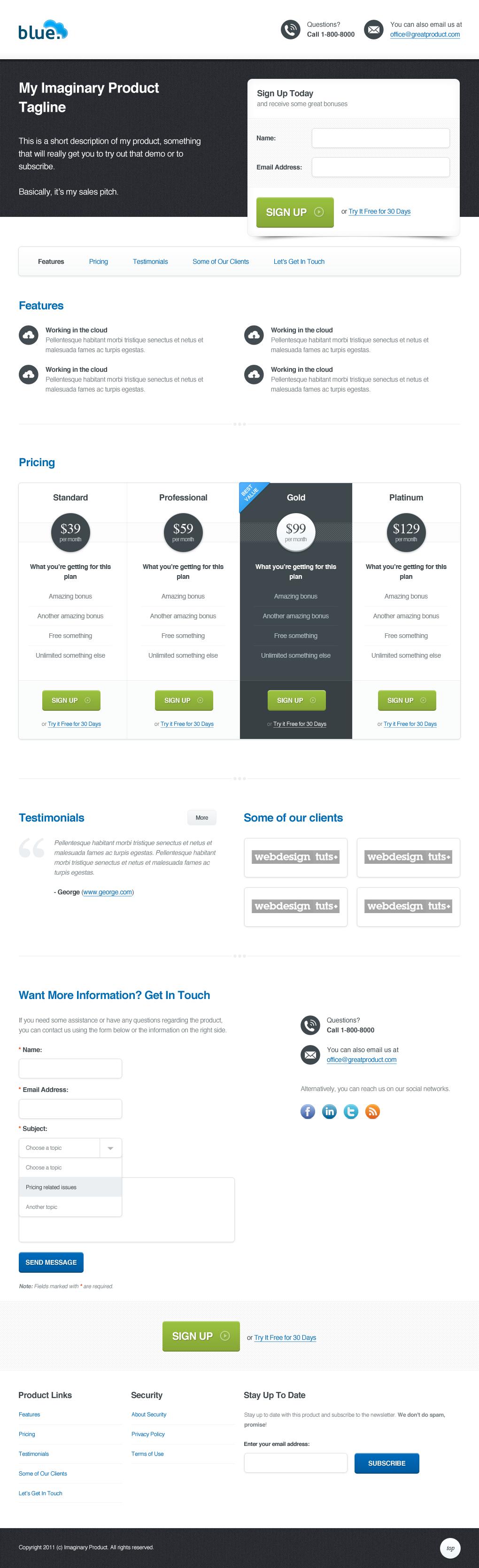 Web design workshop 8 web app landing page - Web application home page design ...