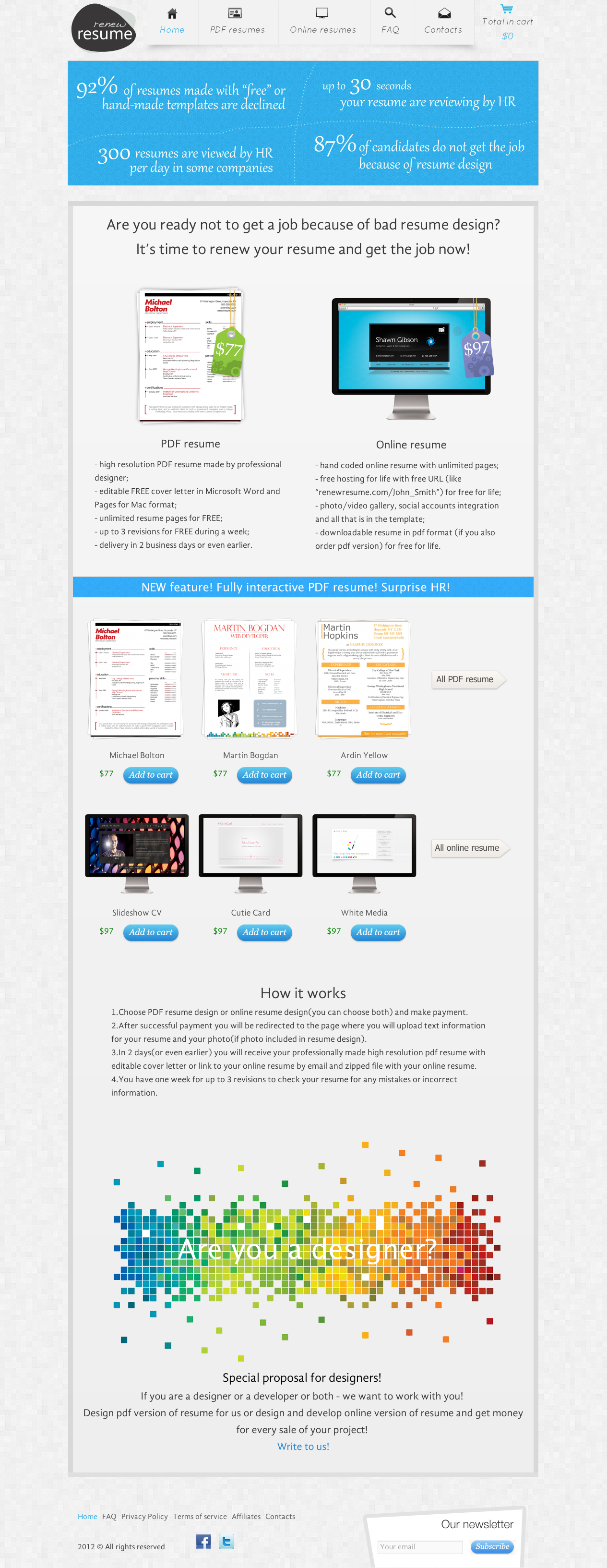 Web Design Workshop  Renew Resume
