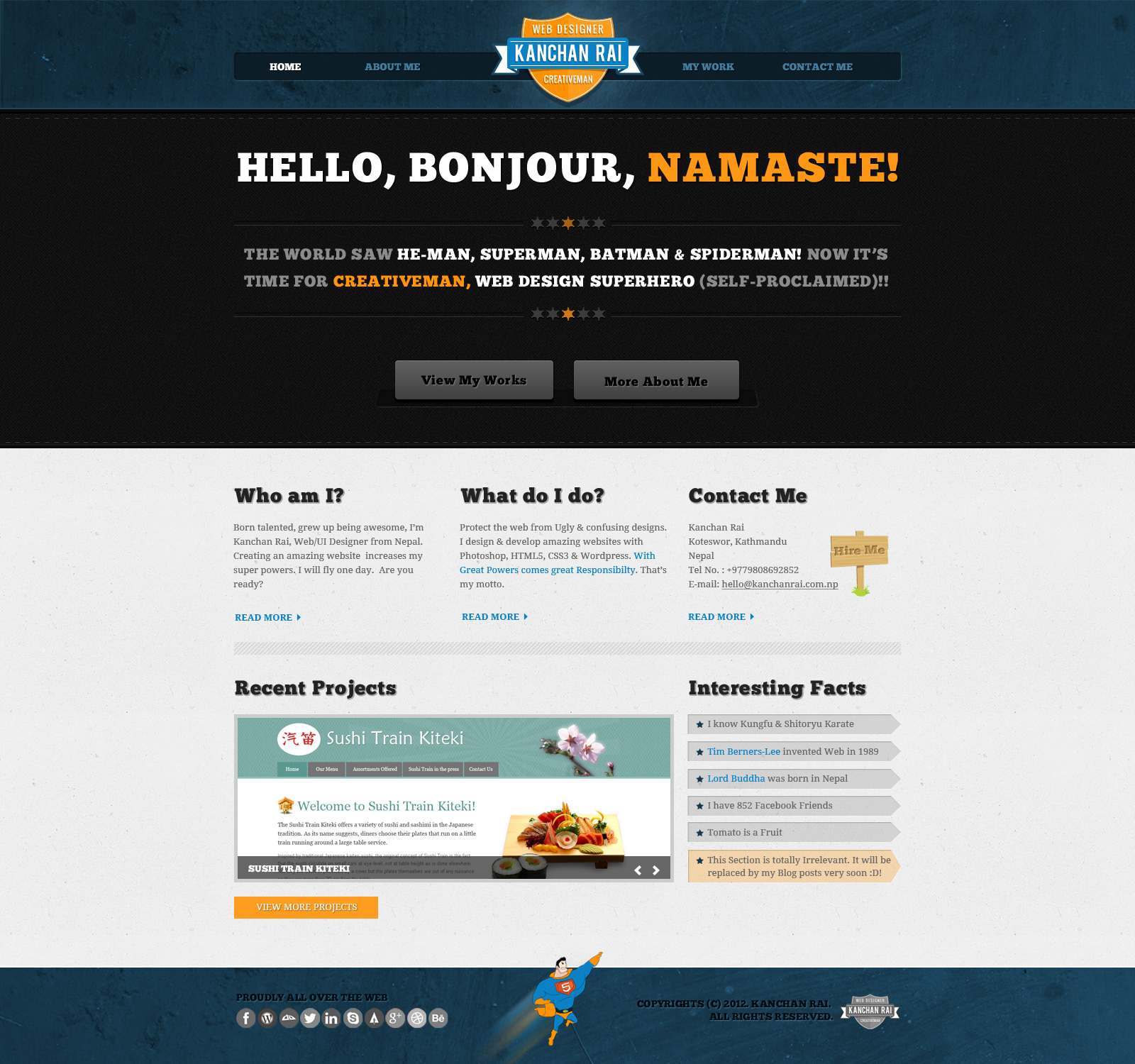 Website Homepage Design: Web Design Workshop #22: Creative Man