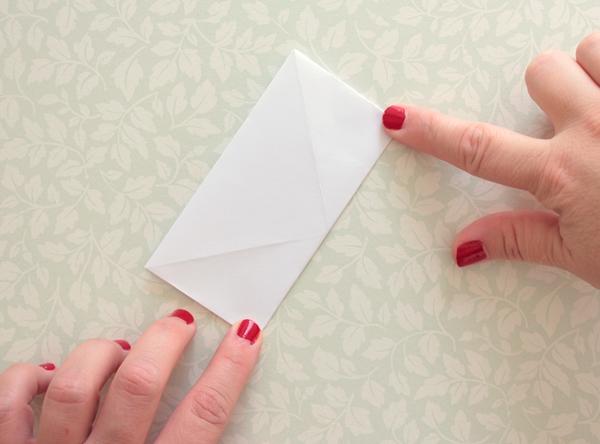 9-origami lantern-fold up left