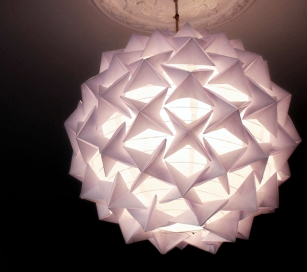 How to make a stunning designer look origami paper lantern for How to make paper lamp step by step