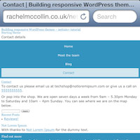 Building a mobile first responsive wordpress theme