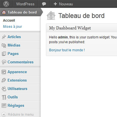 How to build custom dashboard widgets 400