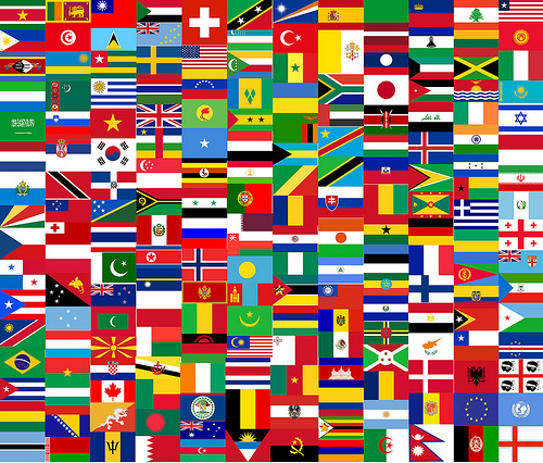 Country flags by mdanys, flickr