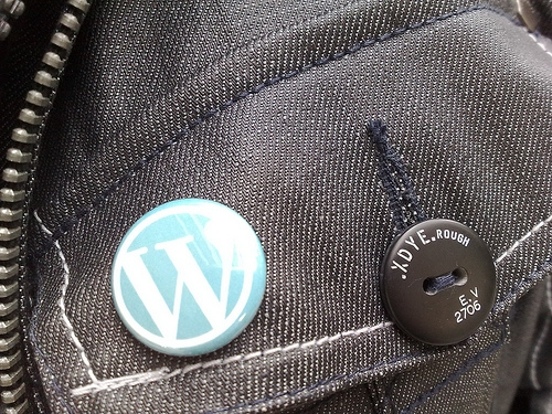 WordPress logo button by titanas, flickr