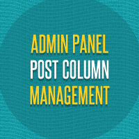 Preview for Admin Panel Post Column Management